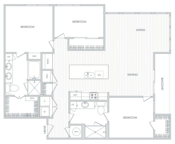 3 Bedrooms 2 Bathrooms Apartment for rent at Hanover North Broad in Philadelphia, PA