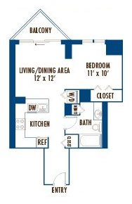 Studio 1 Bathroom Apartment for rent at Left Bank At Kinzie Station in Chicago, IL