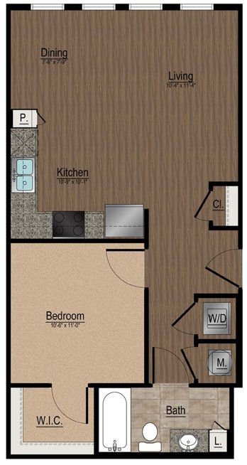 1 Bedroom 1 Bathroom Apartment for rent at Whetstone Apartments in Durham, NC