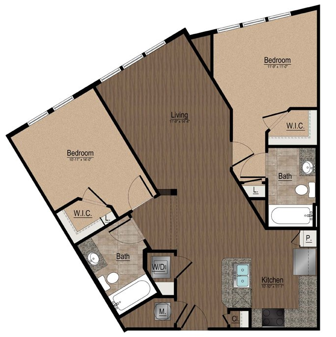2 Bedrooms 2 Bathrooms Apartment for rent at Whetstone Apartments in Durham, NC