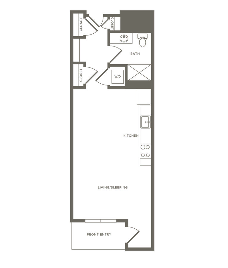 Studio 1 Bathroom Apartment for rent at Modera Observatory Park in Denver, CO