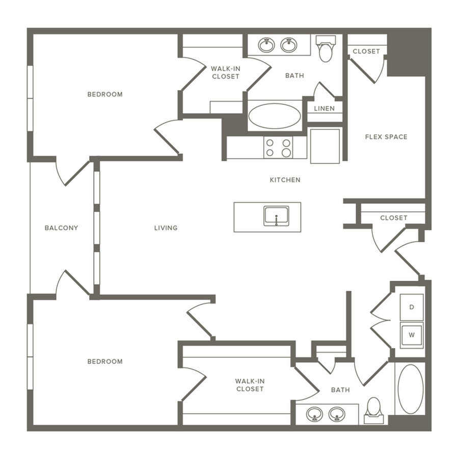 2 Bedrooms 2 Bathrooms Apartment for rent at Modera Observatory Park in Denver, CO