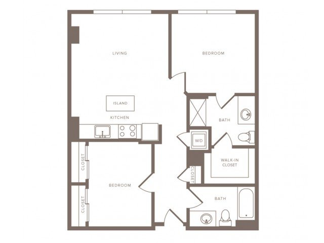 2 Bedrooms 2 Bathrooms Apartment for rent at Modera Midtown in Atlanta, GA