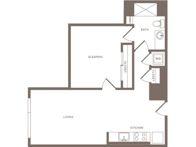 1 Bedroom 1 Bathroom Apartment for rent at Modera Midtown in Atlanta, GA