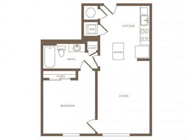 1 Bedroom 1 Bathroom Apartment for rent at Modera Douglas Station in Miami, FL