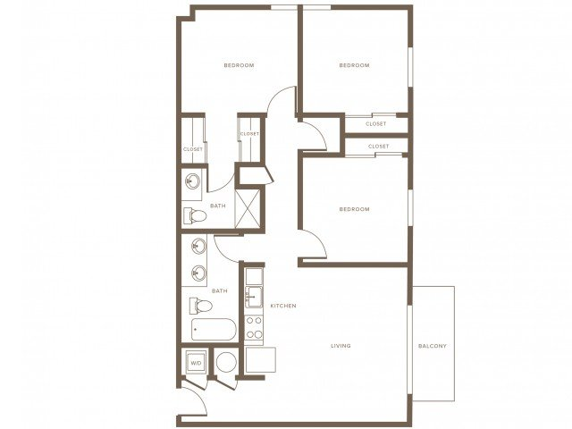 3 Bedrooms 2 Bathrooms Apartment for rent at Modera Douglas Station in Miami, FL