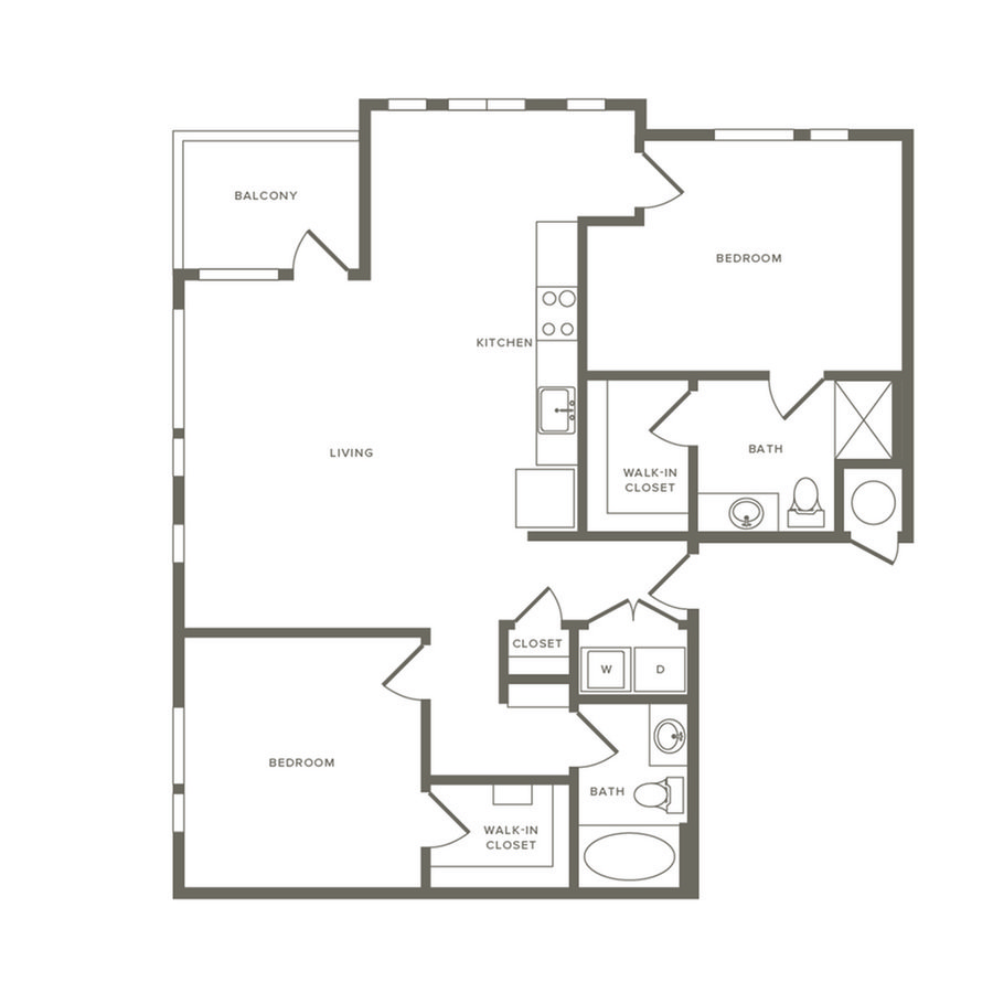2 Bedrooms 2 Bathrooms Apartment for rent at Modera River North in Denver, CO