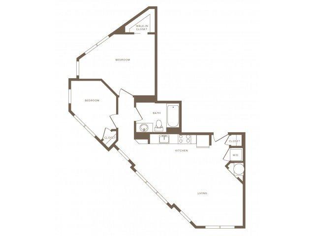 2 Bedrooms 1 Bathroom Apartment for rent at Modera Fairfax Ridge in Fairfax, VA