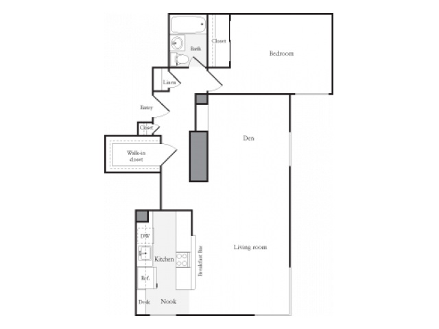 1 Bedroom 1 Bathroom Apartment for rent at Skye At Belltown in Seattle, WA