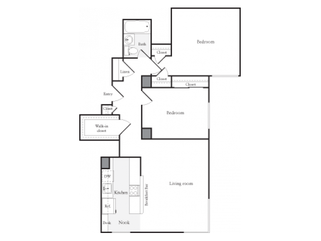 2 Bedrooms 1 Bathroom Apartment for rent at Skye At Belltown in Seattle, WA