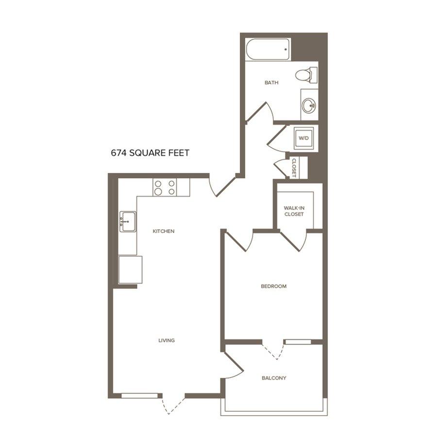 1 Bedroom 1 Bathroom Apartment for rent at Modera the Alameda in San Jose, CA