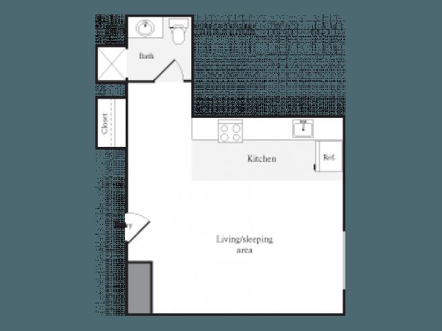 Studio 1 Bathroom Apartment for rent at Skye At Belltown in Seattle, WA