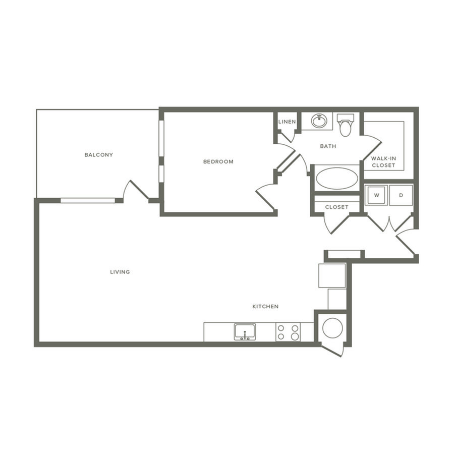 1 Bedroom 1 Bathroom Apartment for rent at Modera River North in Denver, CO