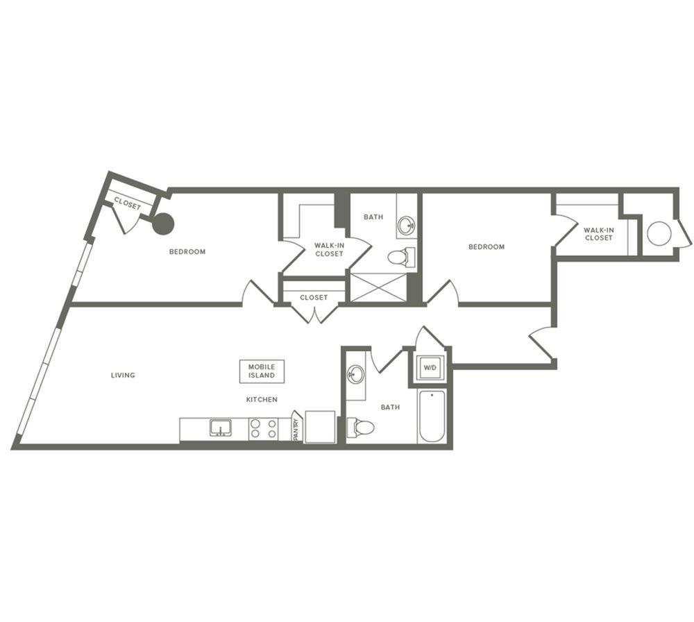2 Bedrooms 2 Bathrooms Apartment for rent at Modera Buckhead in Atlanta, GA