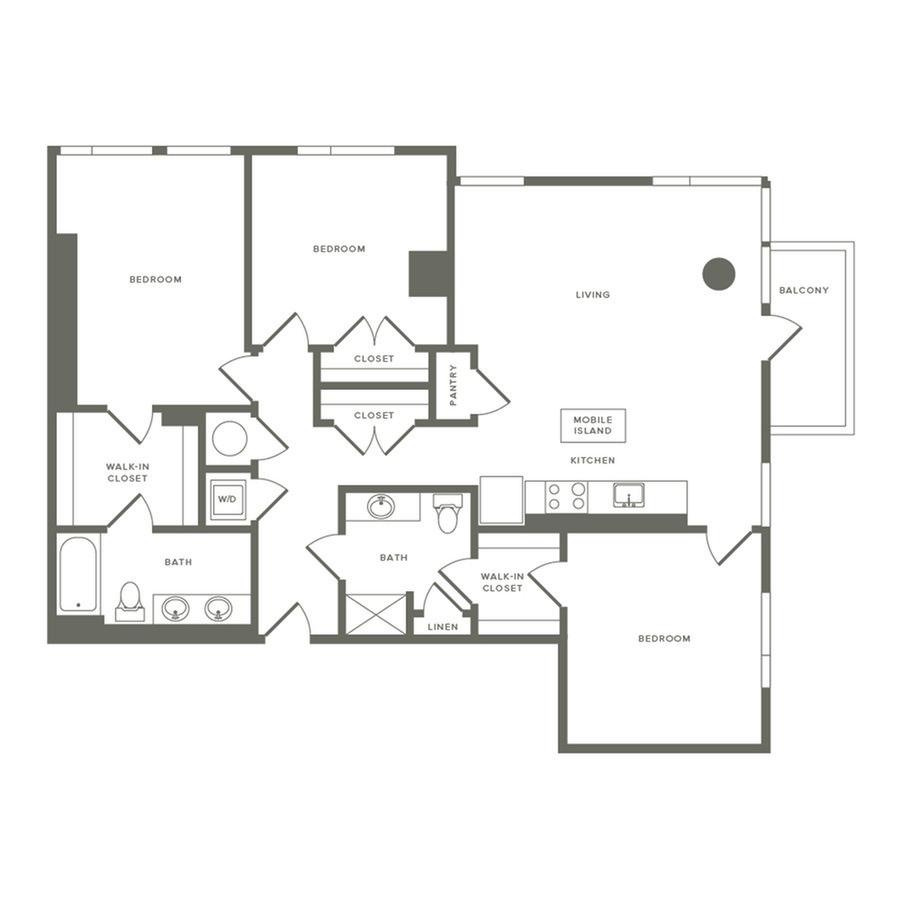 3 Bedrooms 2 Bathrooms Apartment for rent at Modera Buckhead in Atlanta, GA