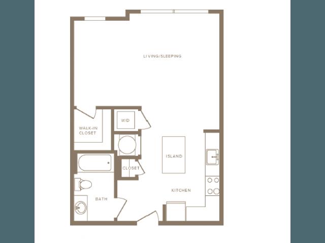 Studio 1 Bathroom Apartment for rent at Modera Fairfax Ridge in Fairfax, VA