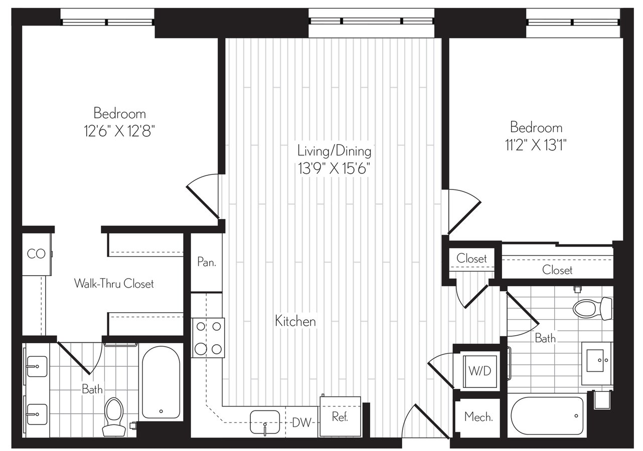 2 Bedrooms 2 Bathrooms Apartment for rent at Axis in Los Angeles, CA