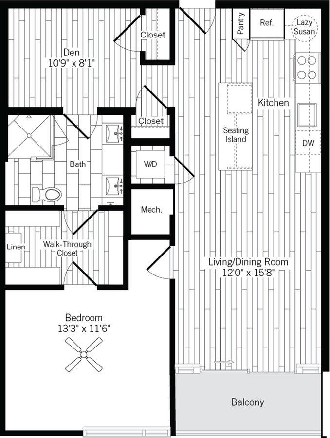 1 Bedroom 1 Bathroom Apartment for rent at Ardan in Dallas, TX