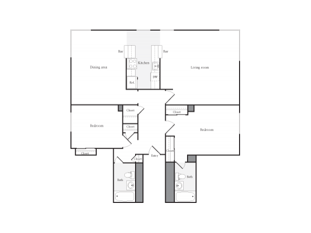 2 Bedrooms 2 Bathrooms Apartment for rent at Skye At Belltown in Seattle, WA