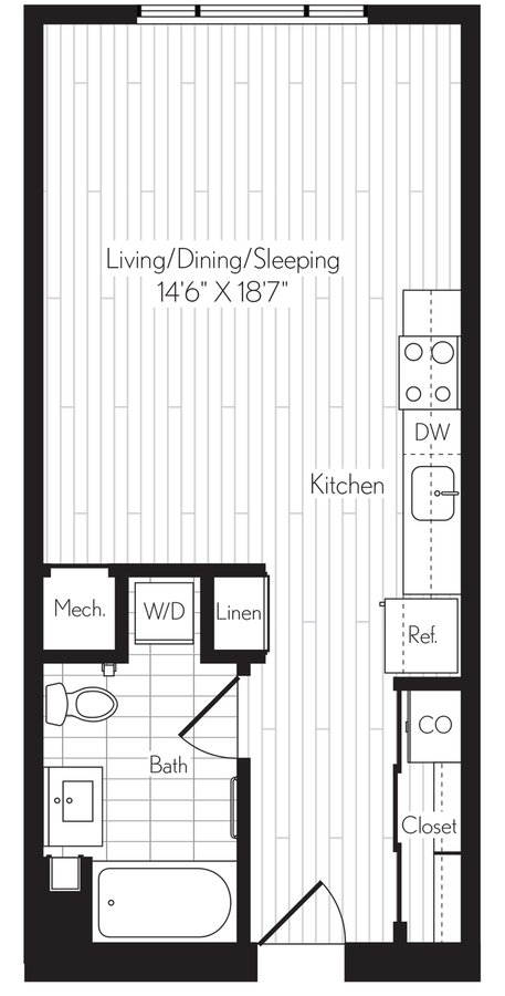 Studio 1 Bathroom Apartment for rent at Axis in Los Angeles, CA