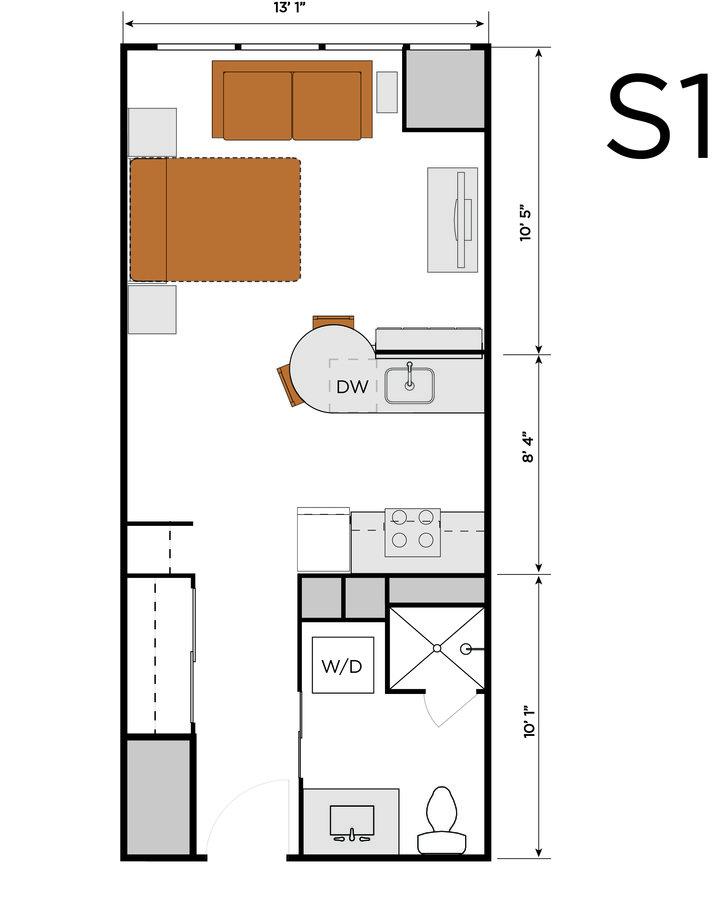 1 Bedroom 1 Bathroom Apartment for rent at 3601 Market in Philadelphia, PA