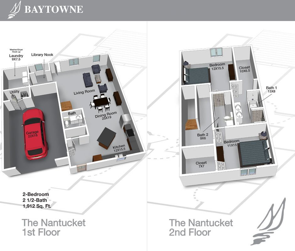 2 Bedrooms 2 Bathrooms Apartment for rent at Baytowne Apartments in Champaign, IL