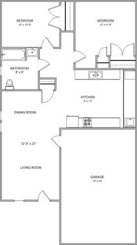 2 Bedrooms 1 Bathroom Apartment for rent at Hanover Estates Ii in Columbia, MO