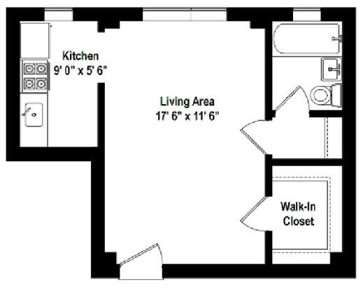 Studio 1 Bathroom Apartment for rent at Plaisance in Chicago, IL