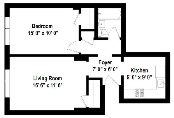 1 Bedroom 1 Bathroom Apartment for rent at Plaisance in Chicago, IL