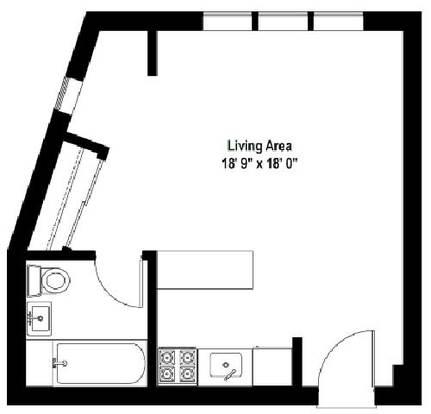 Studio 1 Bathroom Apartment for rent at Beachwalk in Chicago, IL