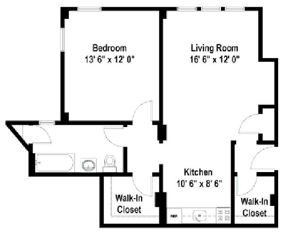 1 Bedroom 1 Bathroom Apartment for rent at Beachwalk in Chicago, IL