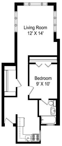 1 Bedroom 1 Bathroom Apartment for rent at 2 Sisters in Chicago, IL