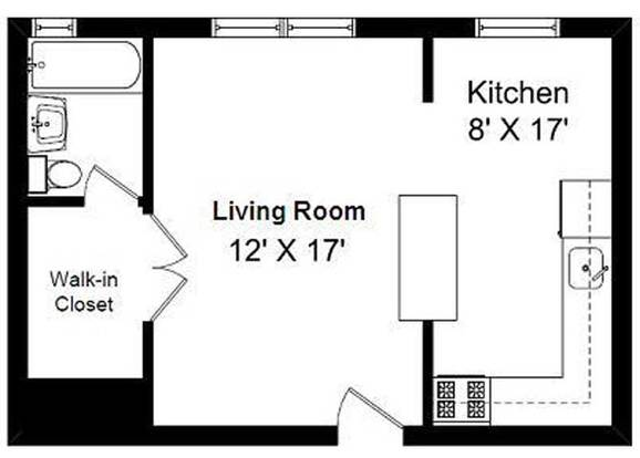 Studio 1 Bathroom Apartment for rent at 2 Sisters in Chicago, IL