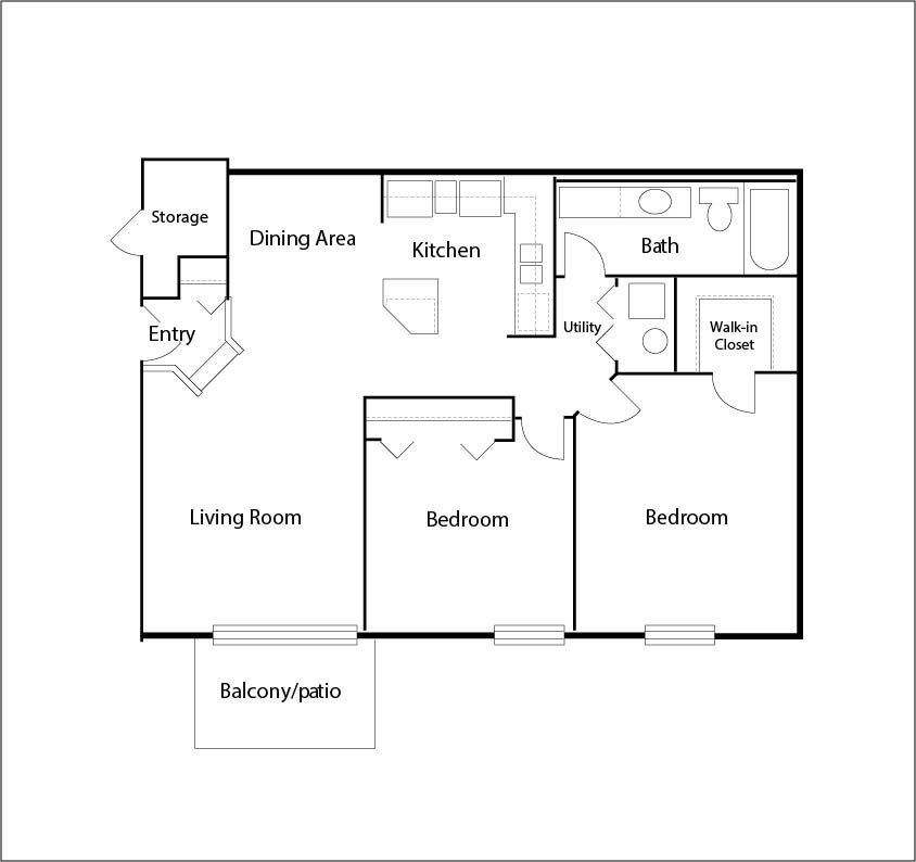 1 Bedroom 1 Bathroom Apartment for rent at Arbor Lakes in Arlington Heights, IL