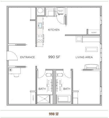 4 Bedrooms 2 Bathrooms Apartment for rent at Good Food Flats in Philadelphia, PA