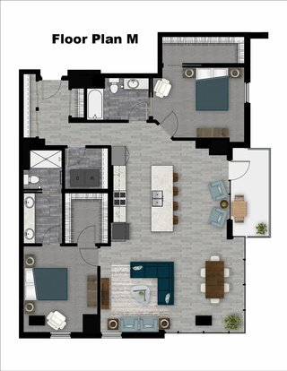2 Bedrooms 2 Bathrooms Apartment for rent at The Lyric in Madison, WI