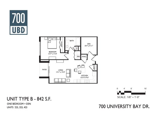 1 Bedroom 1 Bathroom Apartment for rent at 700 Ubd Apartments in Madison, WI