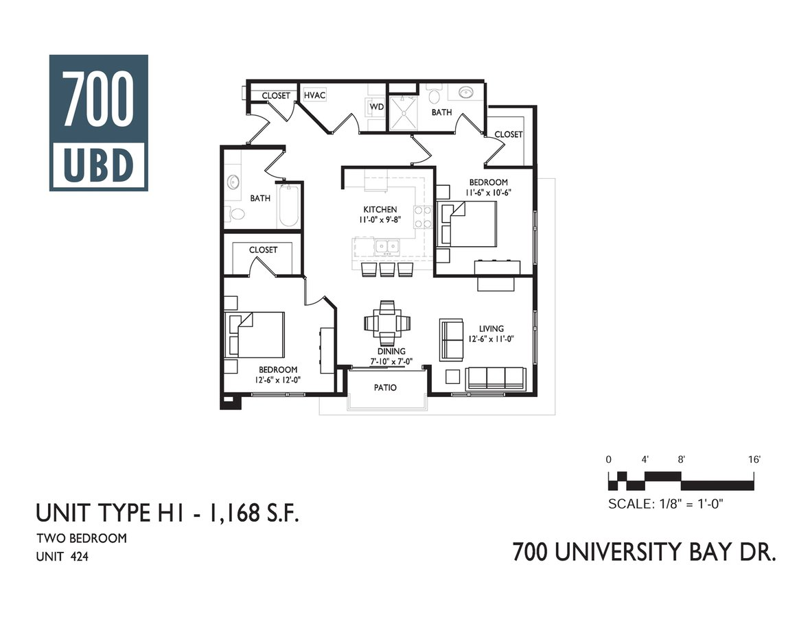 2 Bedrooms 2 Bathrooms Apartment for rent at 700 Ubd Apartments in Madison, WI