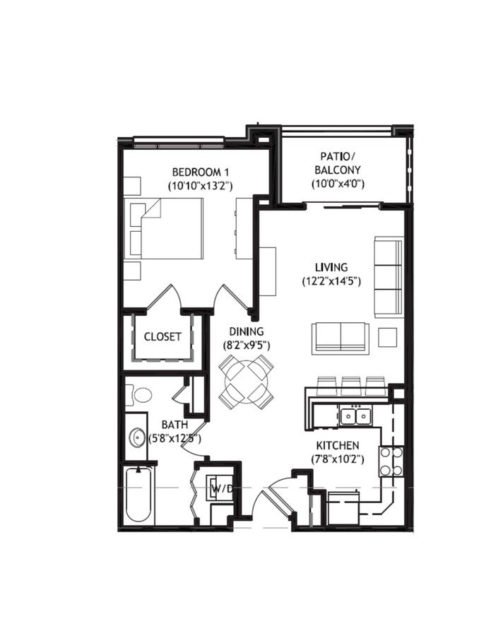 1 Bedroom 1 Bathroom Apartment for rent at Arbor Crossing in Madison, WI