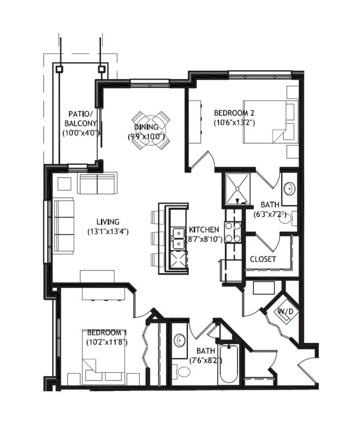 2 Bedrooms 2 Bathrooms Apartment for rent at Arbor Crossing in Madison, WI