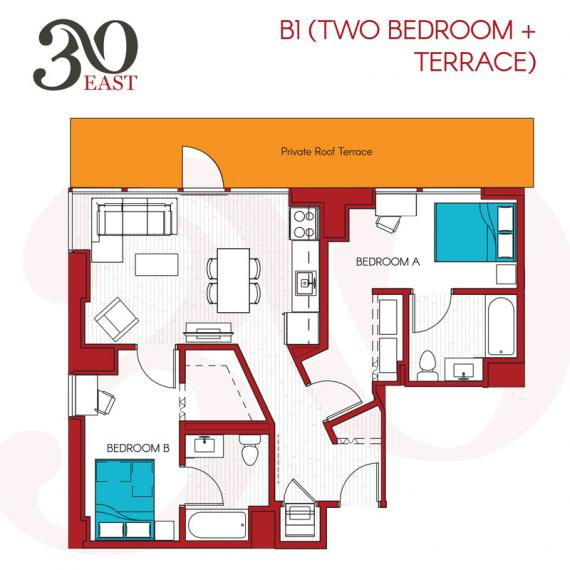 2 Bedrooms 2 Bathrooms Apartment for rent at 30 East in Chicago, IL