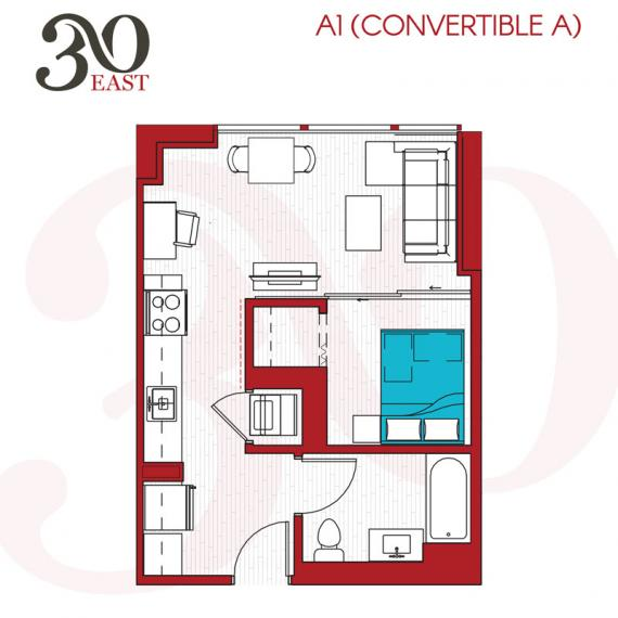 1 Bedroom 1 Bathroom Apartment for rent at 30 East in Chicago, IL