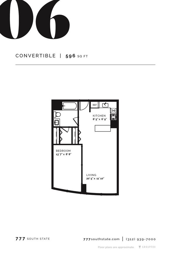 Studio 1 Bathroom Apartment for rent at 777 South State in Chicago, IL