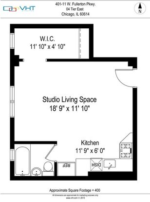 Studio 1 Bathroom Apartment for rent at The Patricians in Chicago, IL