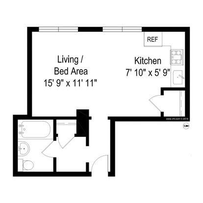 Studio 1 Bathroom Apartment for rent at Clarendon Shores in Chicago, IL