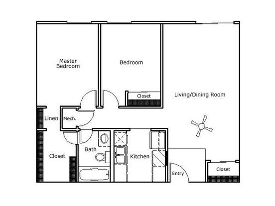 2 Bedrooms 1 Bathroom Apartment for rent at Jackson Grove in Nashville, TN