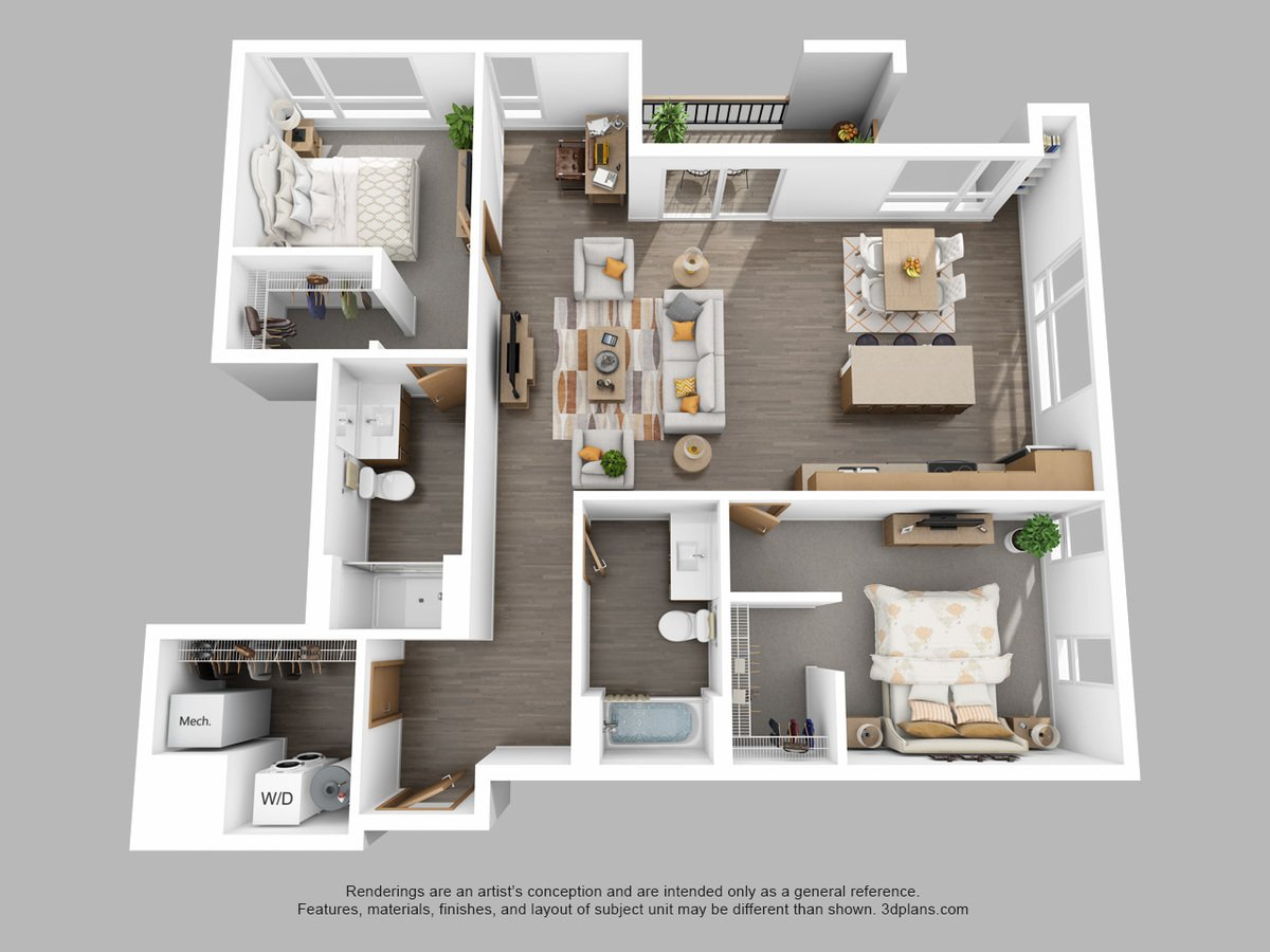2 Bedrooms 2 Bathrooms Apartment for rent at The Standard in Milwaukee, WI