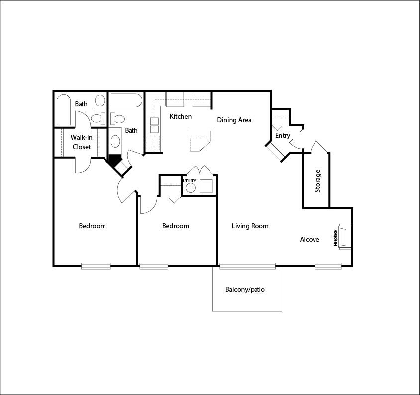 2 Bedrooms 1 Bathroom Apartment for rent at Arbor Lakes in Arlington Heights, IL