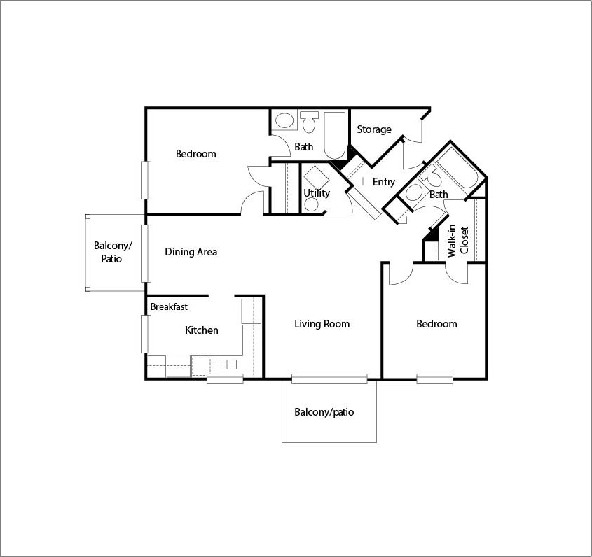 2 Bedrooms 2 Bathrooms Apartment for rent at Arbor Lakes in Arlington Heights, IL