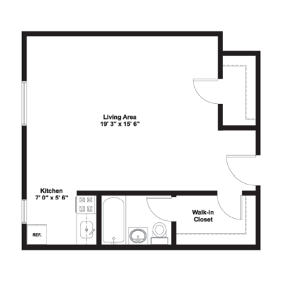Studio 1 Bathroom Apartment for rent at Gramercy Row Apartments in Chicago, IL